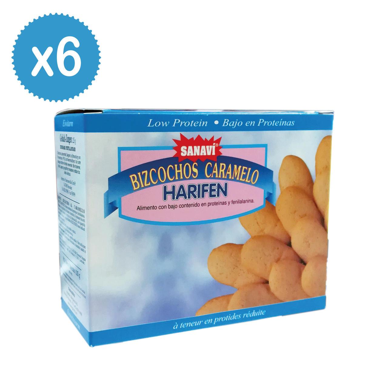 Harifen Biscotti Caramello 6 x 125g