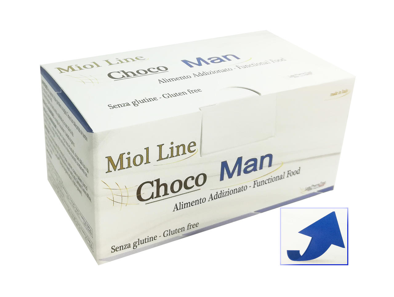 Choco Man Miol - Tavolette di cioccolato fondente 70% 7pz x 10g